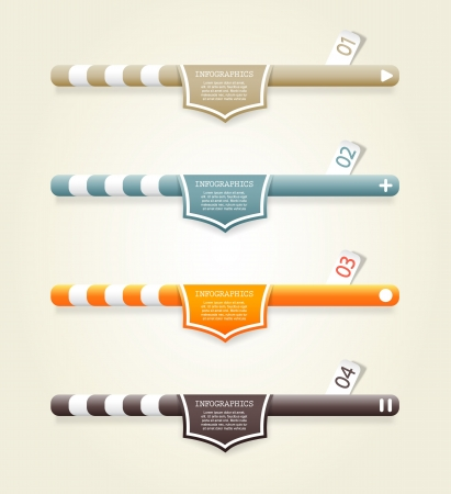Four colored web banners with place for your own text.