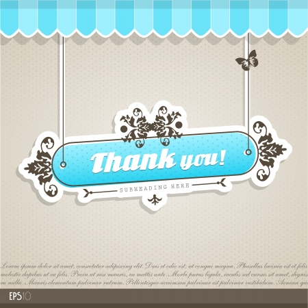 thank you card: Vintage vector background with place for your text.  Illustration