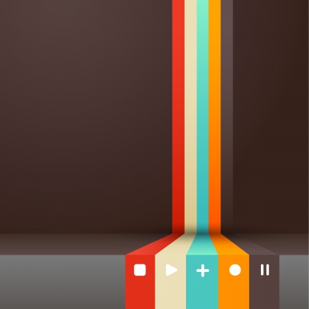 clean cut: Four colored stripes with place for your own text.