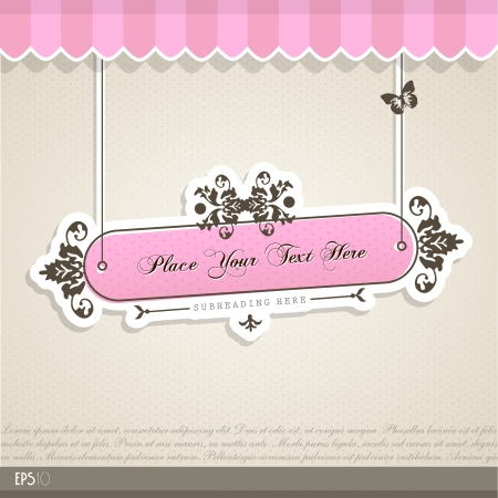 signboard: Vintage vector background with place for your text.  Illustration