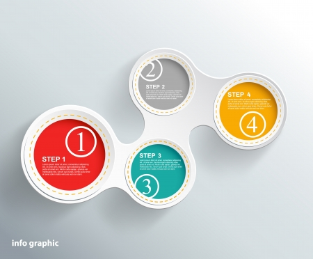Info graphic circles with place for your text.