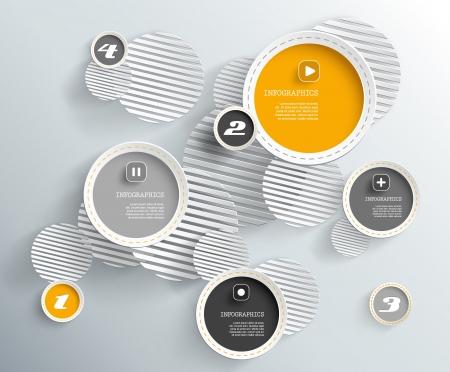 3d circles with shadows  Vectores