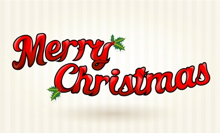 Merry Christmas text worked out to details. Vector art.  Vector