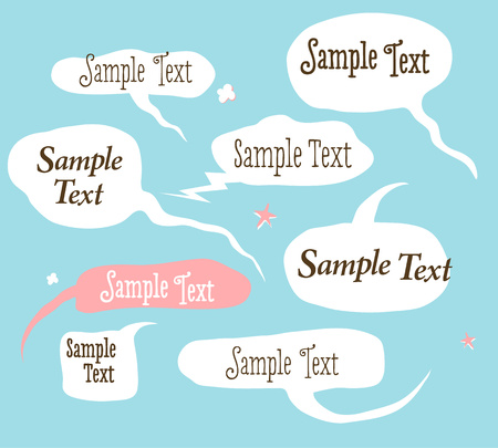 Collection of hand draw speech bubbles.  Vector