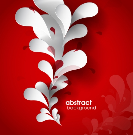 Abstract background with paper flower. Imagens - 22764402