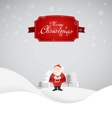 st nick: Winter Christmas scene with place for your text. Illustration