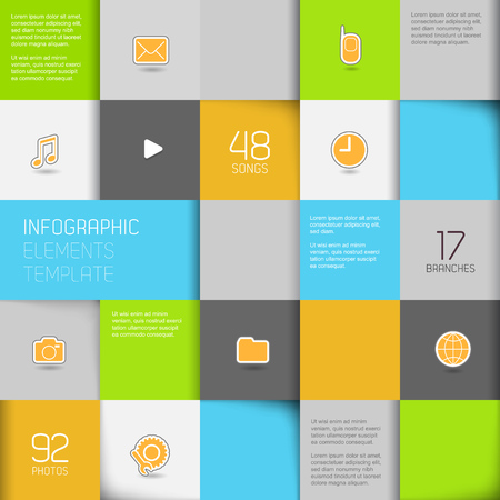 Flat design template - Vector Illustration  Vector