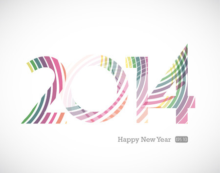 2014 and Happy New Year  Vector