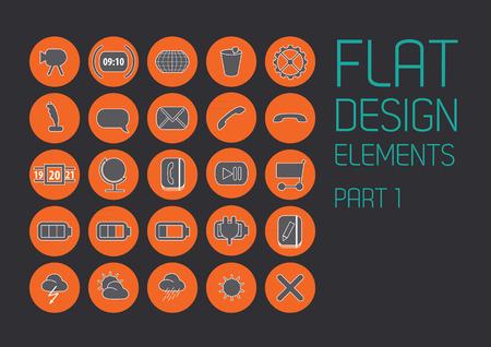 scrollbar: Flat design template - Illustration