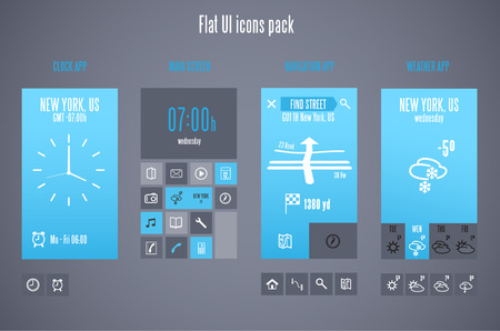 preview: Flat design template for mobile devices