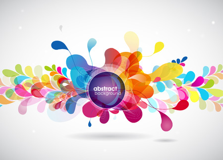 color: abstract colored background with circles.