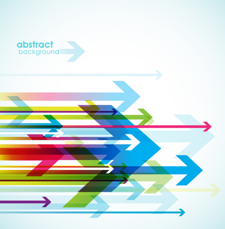 Abstract colored background with arrows. Illustration