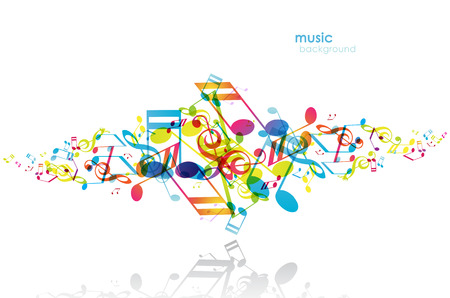 Abstract background with tunes. Stock Vector - 34372023