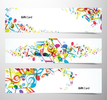 musical notes: Conjunto de banners del sitio Web.
