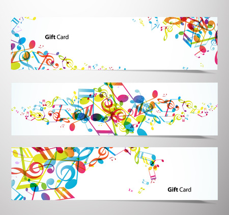 musical note: Set of website banners.
