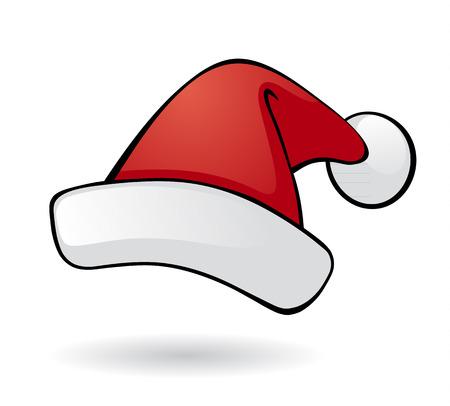 サンタ ベクトル帽子。