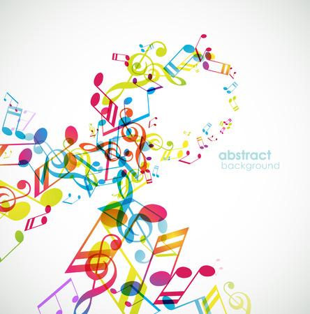 nota musical: Resumen de fondo con canciones.