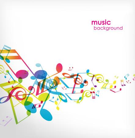 de cor: Fundo abstrato com melodias. Ilustração