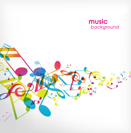 note musicale: Sfondo astratto con melodie.