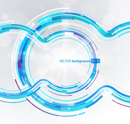 blue circle: Abstract futuristic blue circle.
