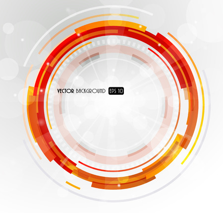 3d circle: Abstract futuristic orange 3D circle.