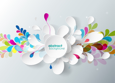 3d flower: abstract background with paper flower.
