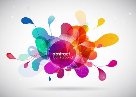 barvy: abstraktní barevné pozadí s kruhy.