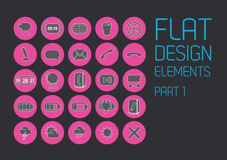 scrollbar: Flat design template - Vector Illustration