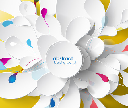 flower structure: abstract background with paper flower.