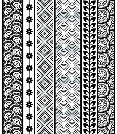 polynesian: Set of abstract pattern stripes.