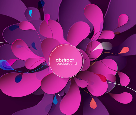 creative arts: Abstract background with paper flower.