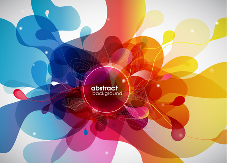 abstract colored background with circles. Stock fotó - 44227153