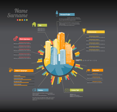 curriculum: Creative, color rich CV  resume template.