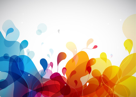 colorful: Colorful abstract background with flowers.