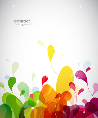 abstract flowers: Colorful abstract background with flowers.