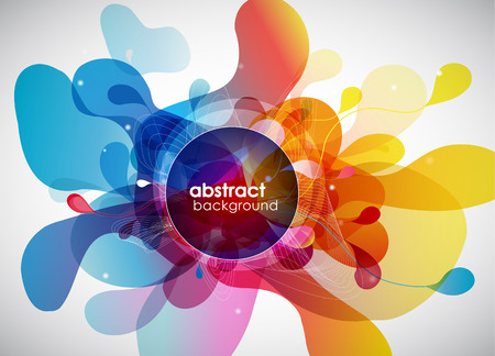 futuristic wallpaper: abstract colored background with circles.