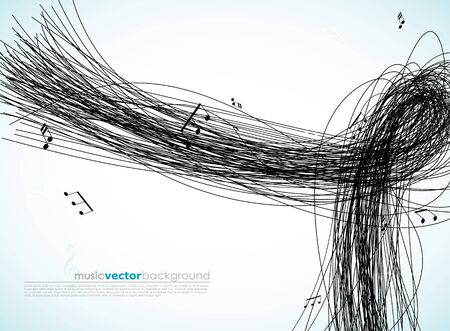 tunes: Illustration with lines and tunes.