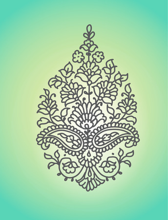 classic contrast: Paisley. Ethnic ornament. Vector illustration isolated.