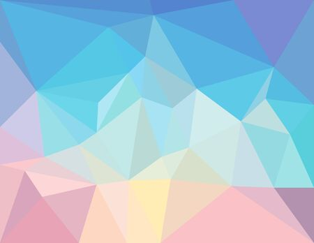 pastel colors: triangle mosaic background in light  pastel colors Illustration