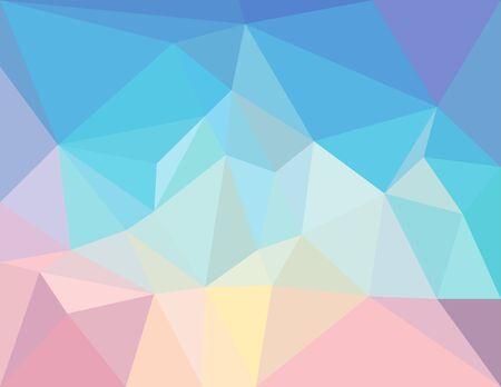splinter: triangle mosaic background in light  pastel colors Illustration