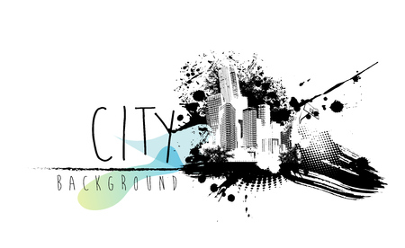 architecture abstract: Abstract illustration with city scape and place for your text.