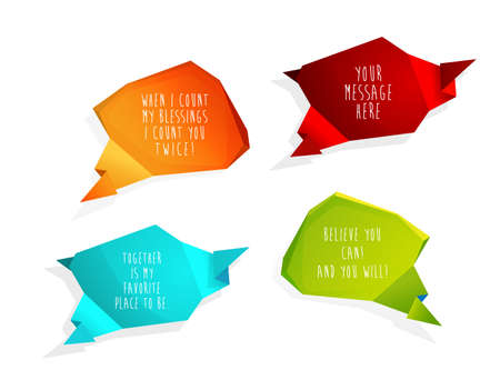 slogans: Set of speech bubbles with place for your own text or using slogans. Illustration