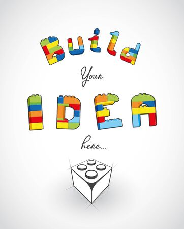 slogan: Build your idea here slogan template. Illustration