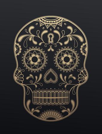 día del cráneo del azúcar de los muertos.