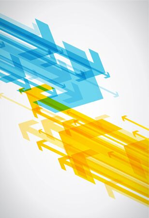 arrows background: Abstract background with colorful arrows. Illustration