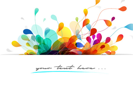 quotation: Abstract colored background with leafs and place for your quotation.