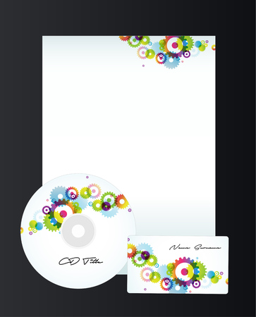 toothed: Corporate style templates with toothed wheels pattern.