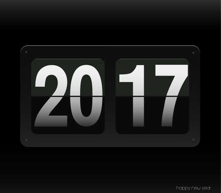count down: Count down clock with 2017 year.