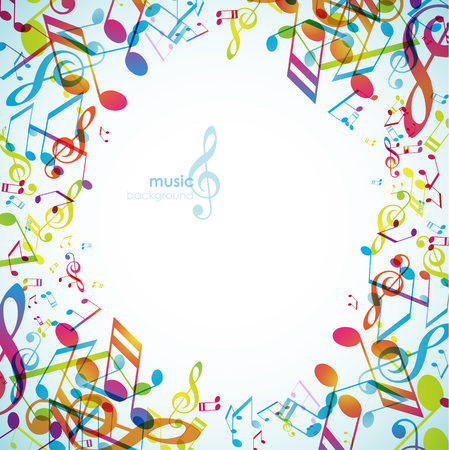 Abstract backgrounds with colorful tunes.