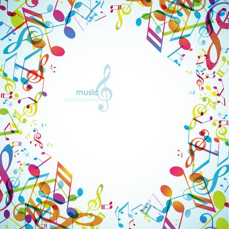 Fondos abstractos con melodías de colores.